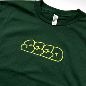 Seed Throw Logo Tee - Forrest Green