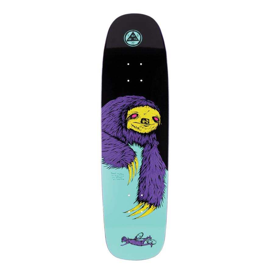Welcome Sloth on Son of Golem Deck - Black/Teal - 8.75