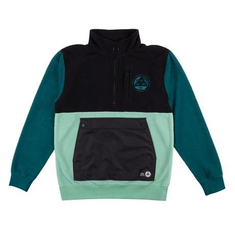 Welcome Talisman Half Zip Sherpa Fleece - Black/Atlantic/Sage