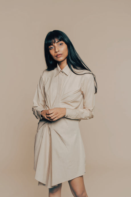 Pleated Shirt Dress - CORE by JSI