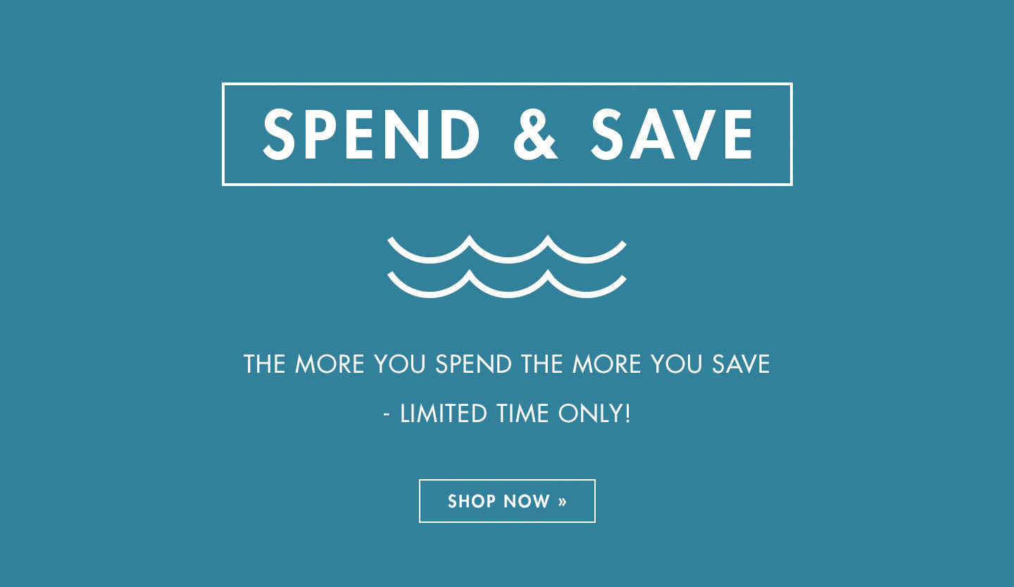 Spend & Save. The More You Spend The More You Save
