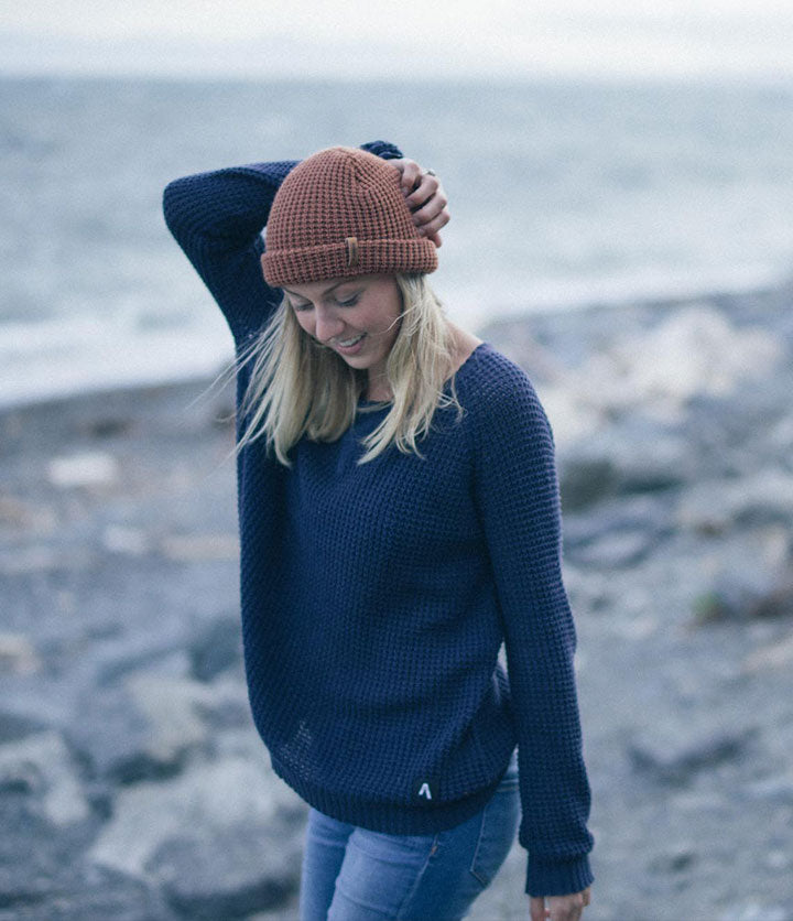 Women's Sway Navy Knitted Sweater