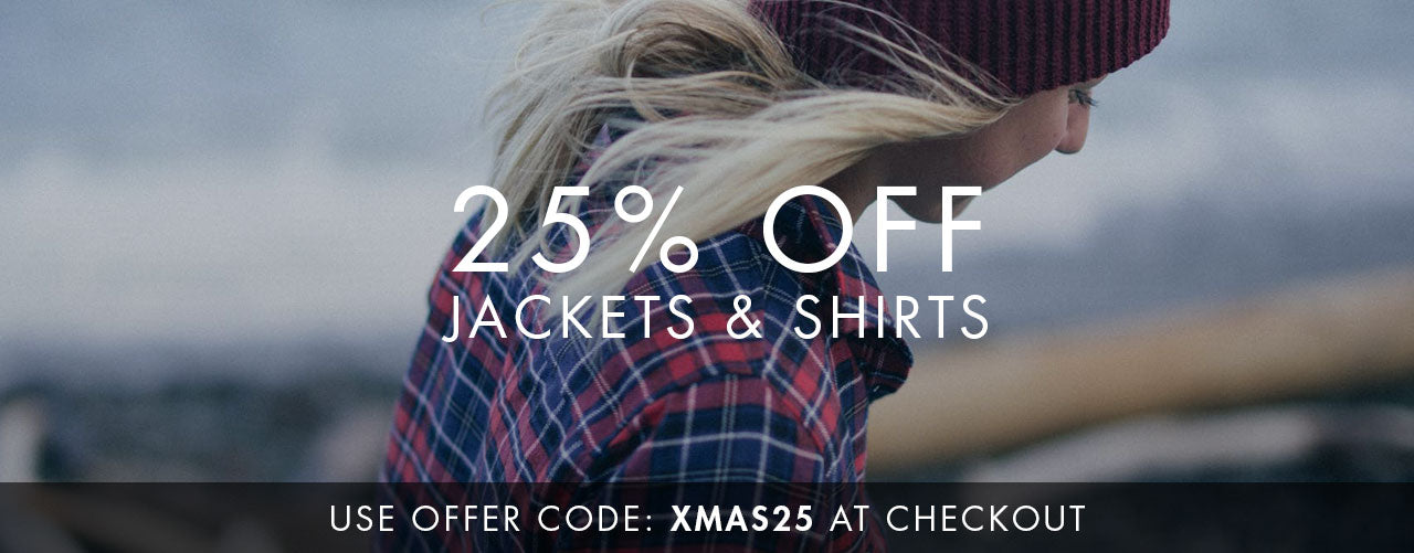 25% Off Jackets & Shirts