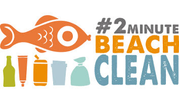 2 min beach clean logo