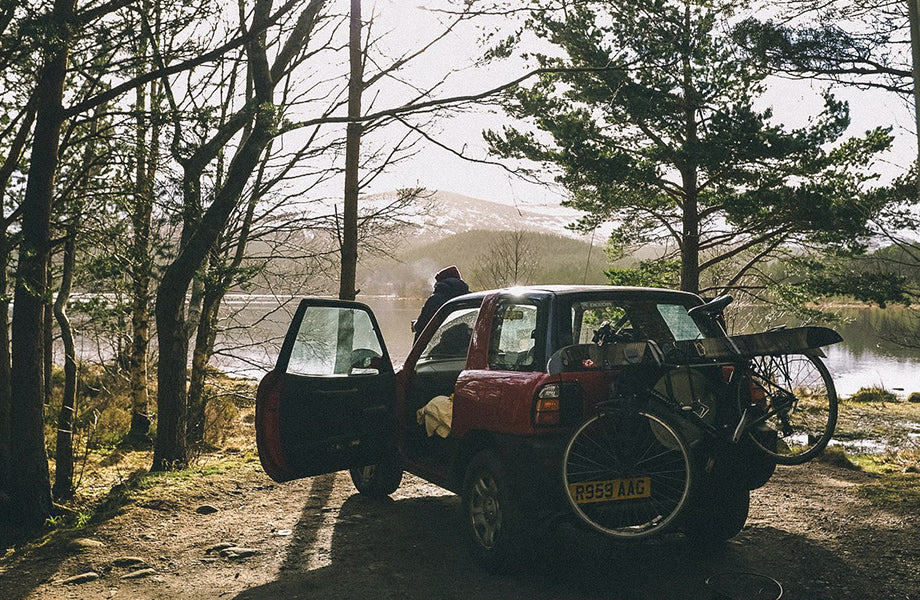Car loaded up for a day of adventure in Scotland