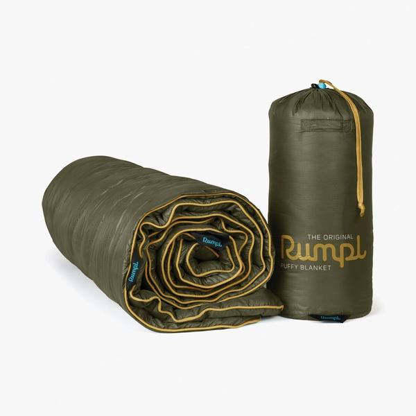 RUMPL ORIGINAL PUFFY BLANKET THROW - BURNT OLIVE