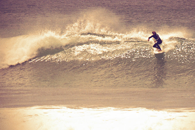 Adam Stickland catching some New Zealand Waves