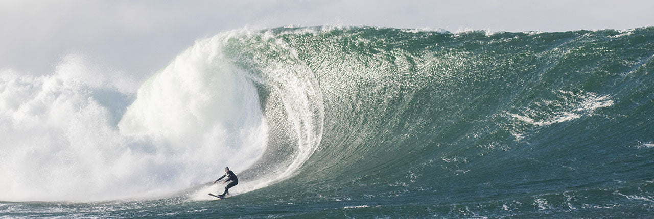 An Irish Witner, Barry surfing a 20-25ft wave in Ireland