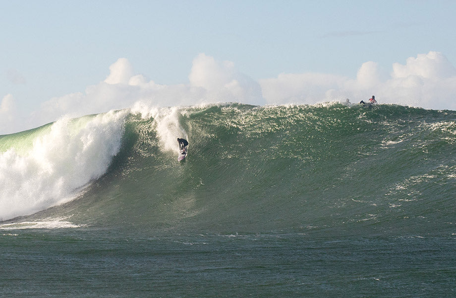 Barry dropping in to a 20-25ft wave