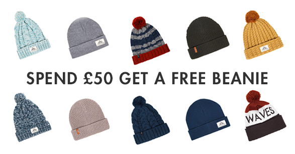 FREE BEANIE WITH ANY £50+ ORDER