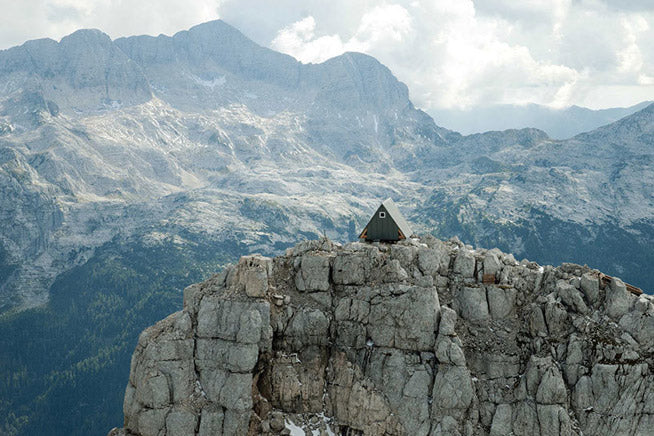>A Tiny Cabin Perched High on a Mountain in Italy