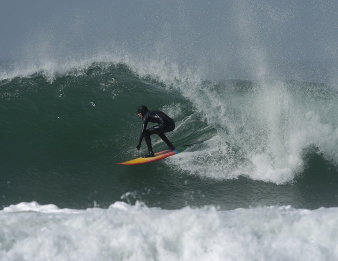 Chris Nelson surfing