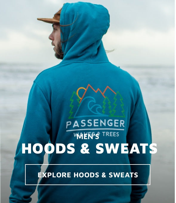 Mens hoodies and sweatshirts for adventure