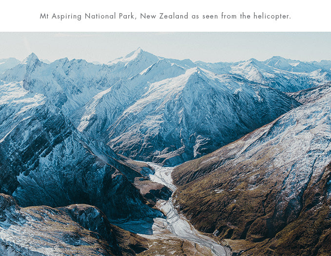 Mark Clinton, Mt Aspiring National Park, New Zealand as seen from the helicopter.