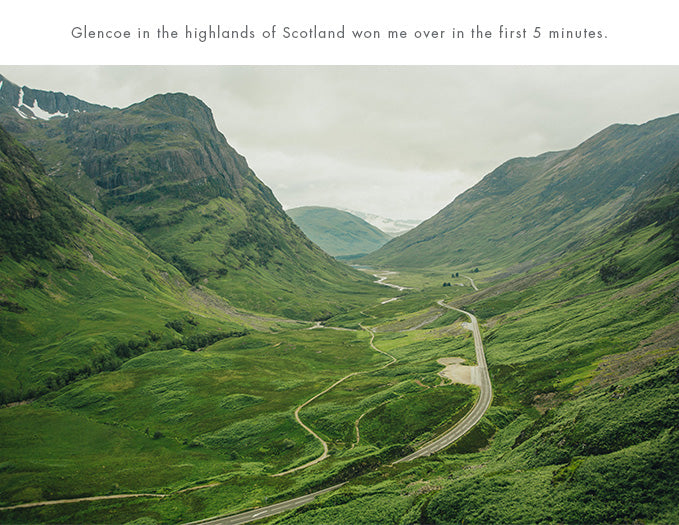 Mark Clinton, Glencoe in the highlands of Scotland won me over in the first 5 minutes.