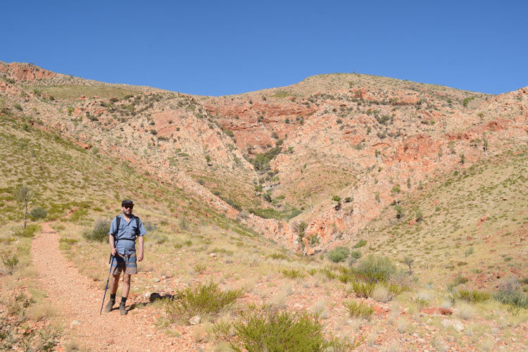 Trecking in Austrlia, Orminston Gorge, Alice Springs