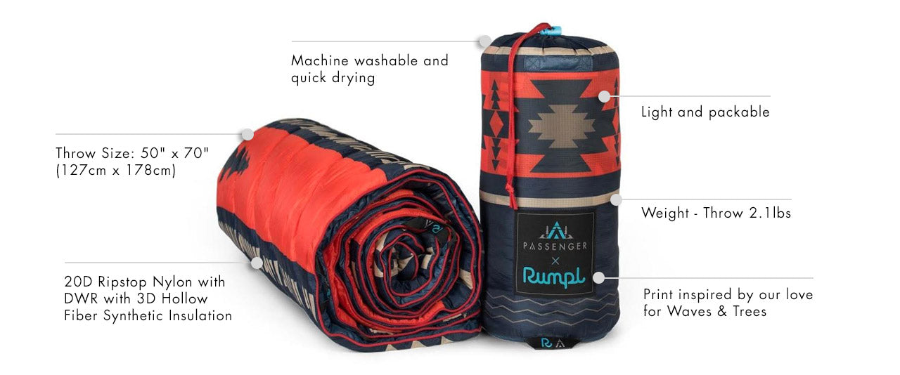 Rumpl x Passenger Adrift Throw | product spec