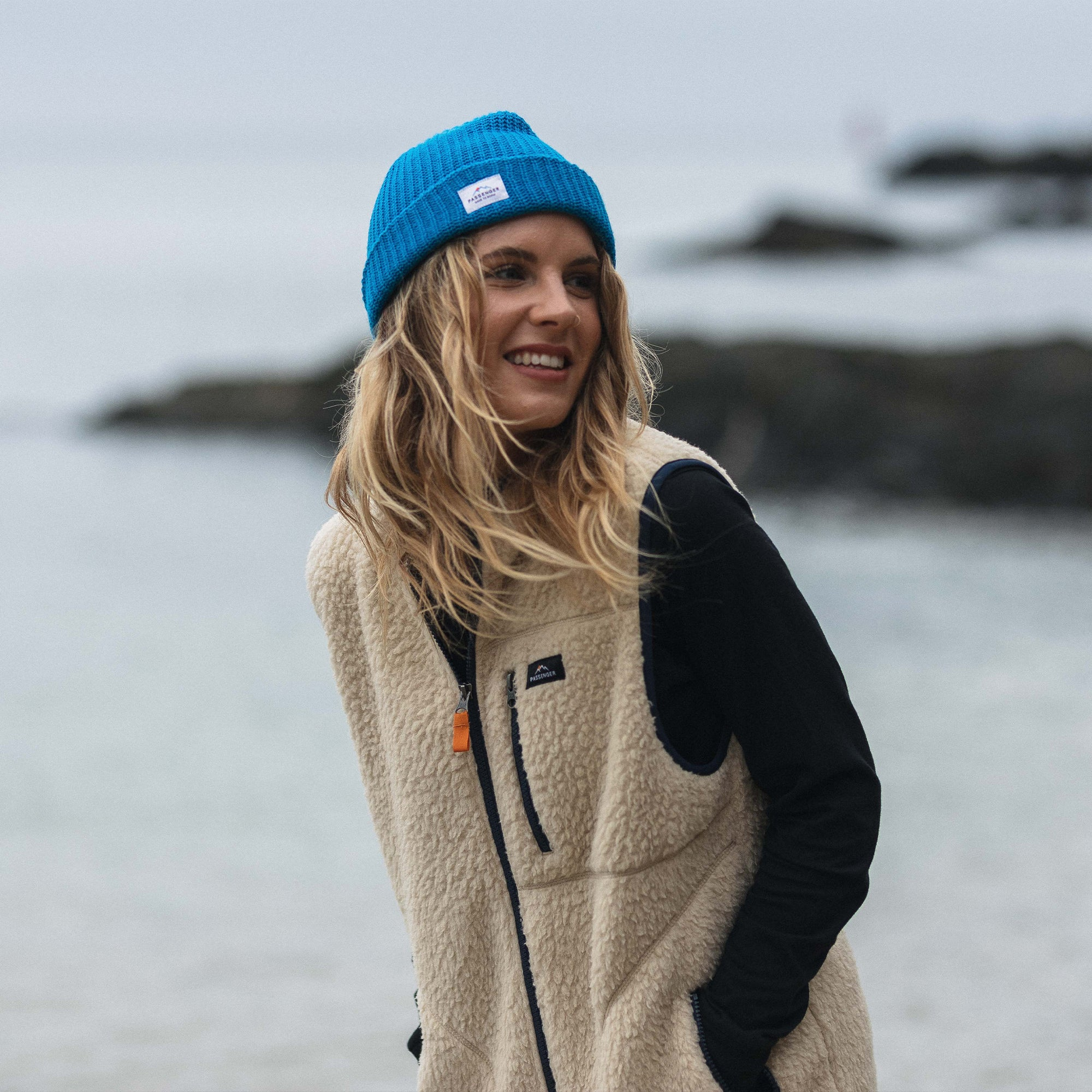 Pop Top Beanie - Sea Blue image 1