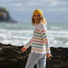 Lakewood Knitted Sweater - White Stripe