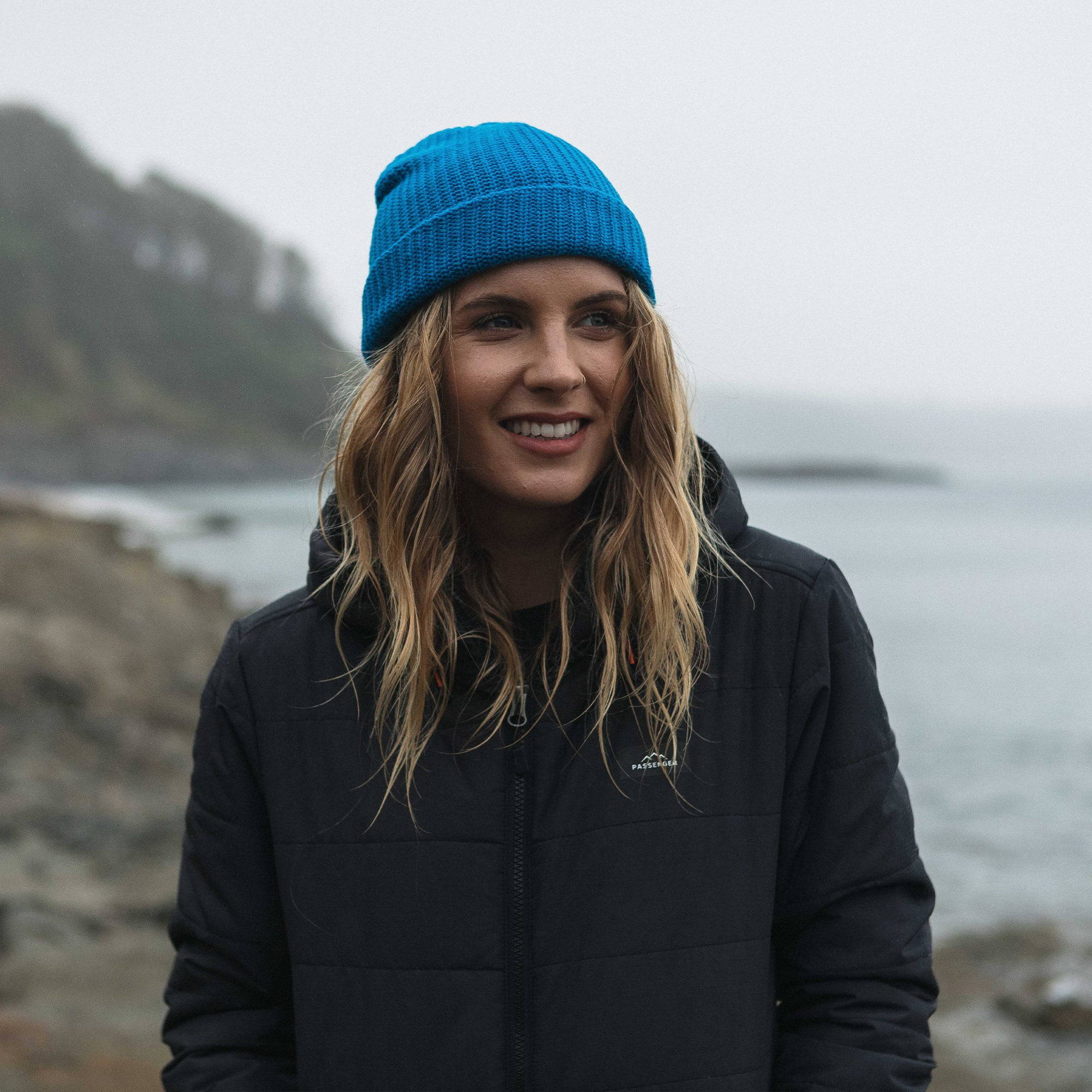 Pop Top Beanie - Sea Blue image 3