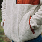 Offgrid 1/4 Zip Sherpa Fleece - Oatmeal/Rust