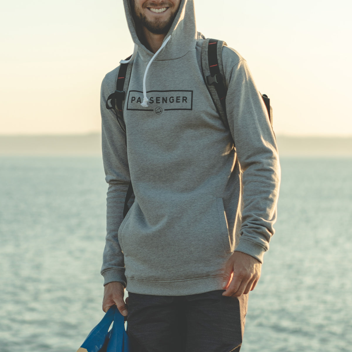 Campout Hoodie - Grey Marl image 1