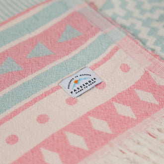 Turkish Towel - Ringwood Sage/Pink