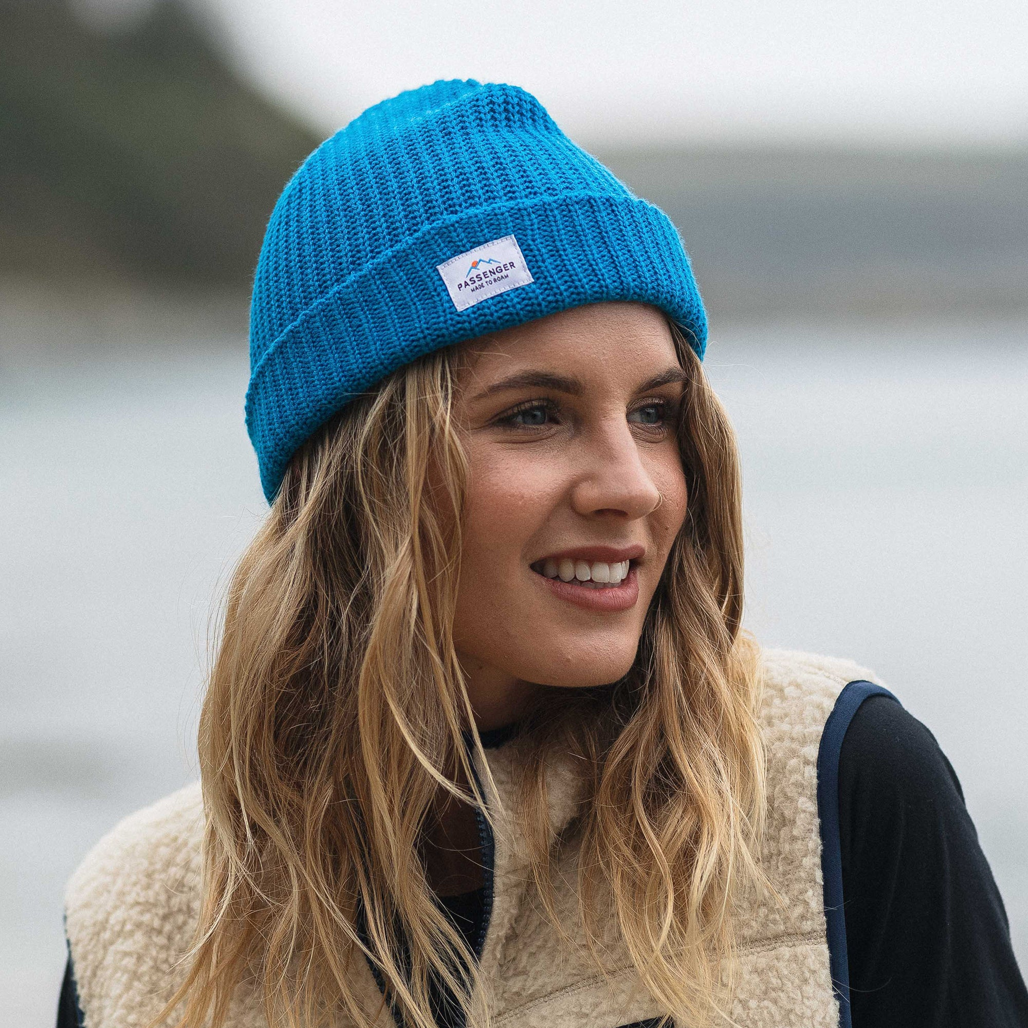 Pop Top Beanie - Sea Blue image 4