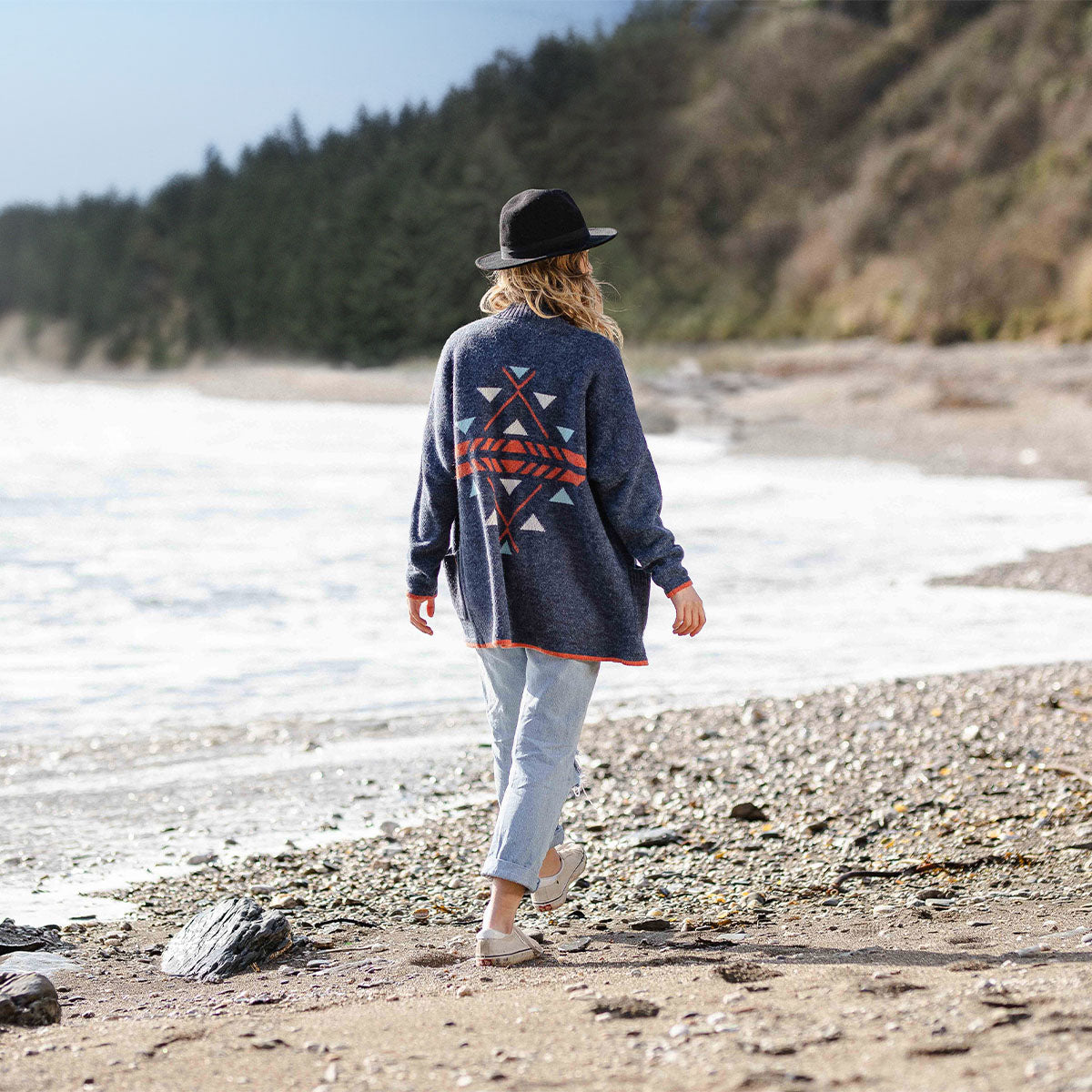 West Coast Cardigan - Dark Denim image 4