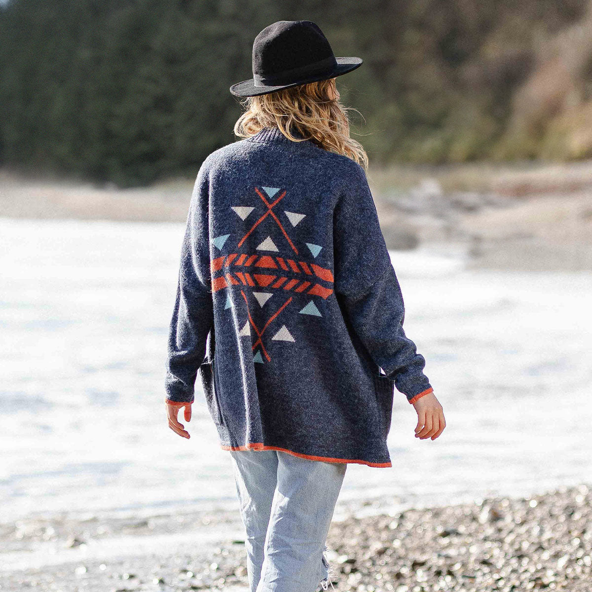 West Coast Cardigan - Dark Denim image 1