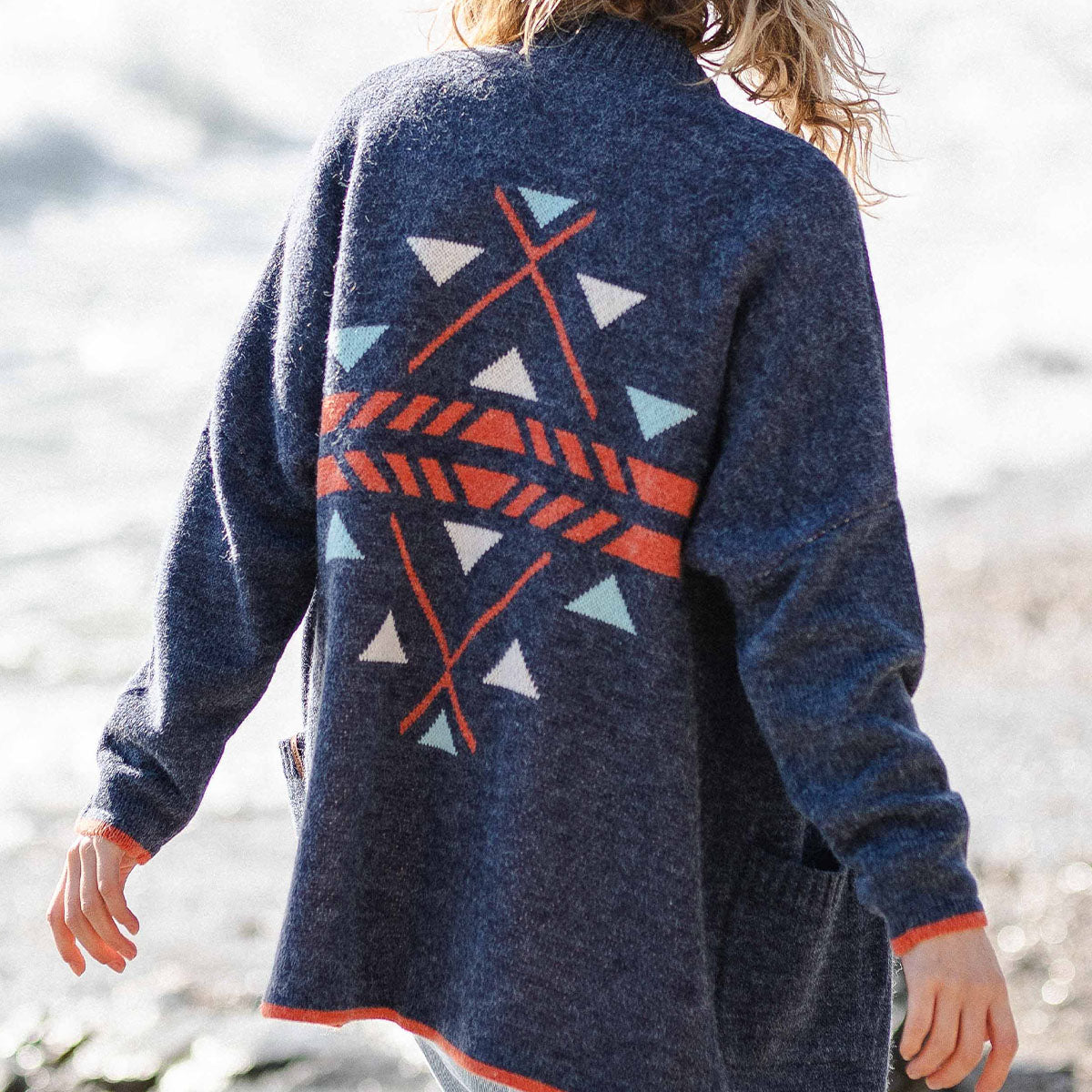 West Coast Cardigan - Dark Denim image 3