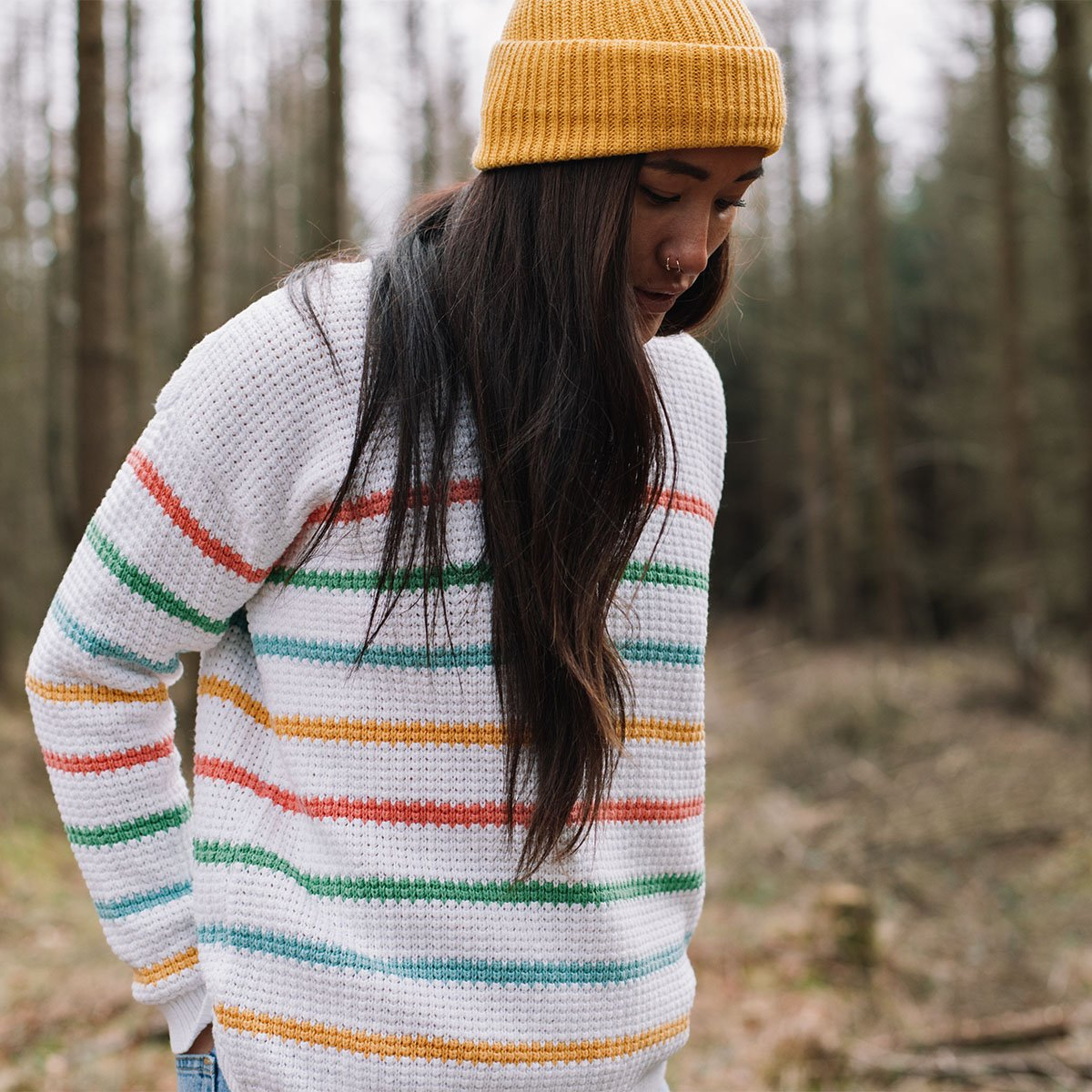 Lakewood Knitted Sweater - White Stripe image 5