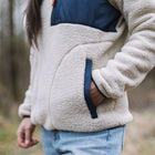 Home 1/4 Zip Sherpa Fleece - Oatmeal