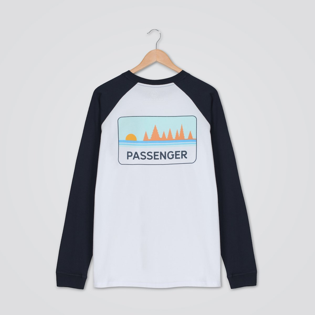 Time Slows L/S T-Shirt - White/Navy image 4