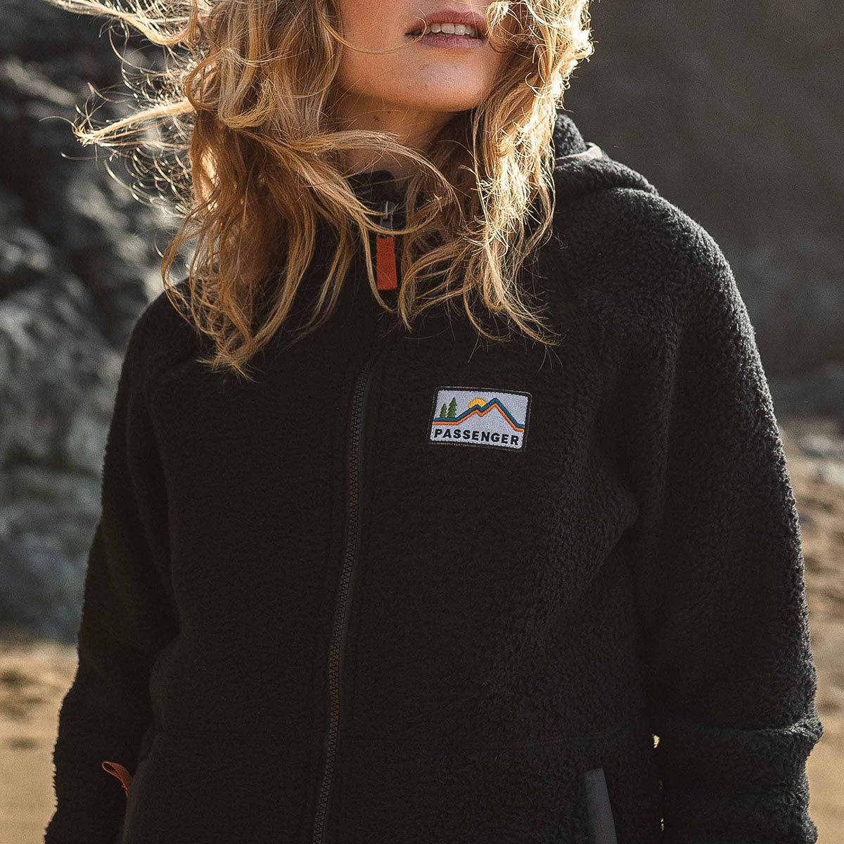 North Coast Full Zip Sherpa Fleece - Black image 2