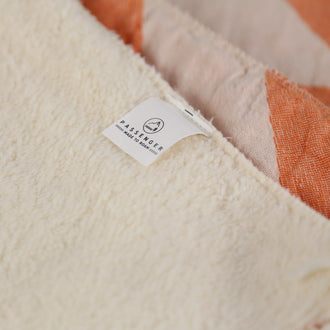 Lulworth Fleece Lined Blanket - Burnt Orange