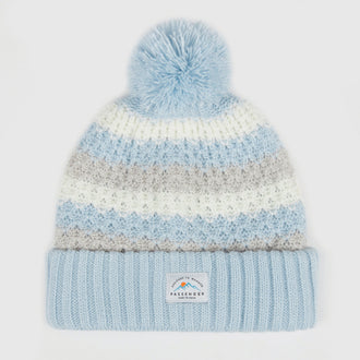 Ast Bobble Beanie - Blue/White
