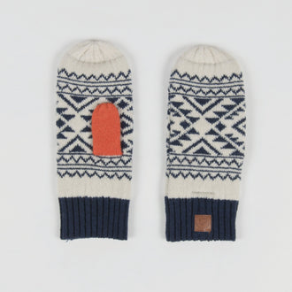Canuck Mittens - Navy/Grey/Orange