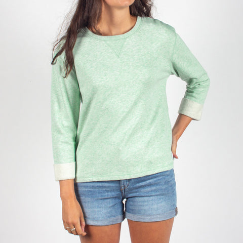 ALBANY MID WEIGHT TOP - MINT MARL