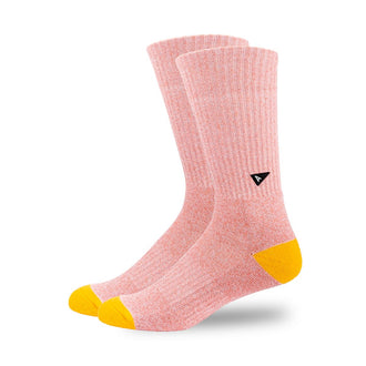 Arvin Goods Long Crew Socks - Coral Marl