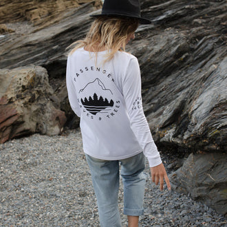 Big Leaf L/S T-Shirt - White