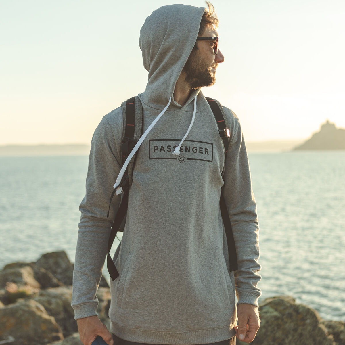 Campout Hoodie - Grey Marl image 2
