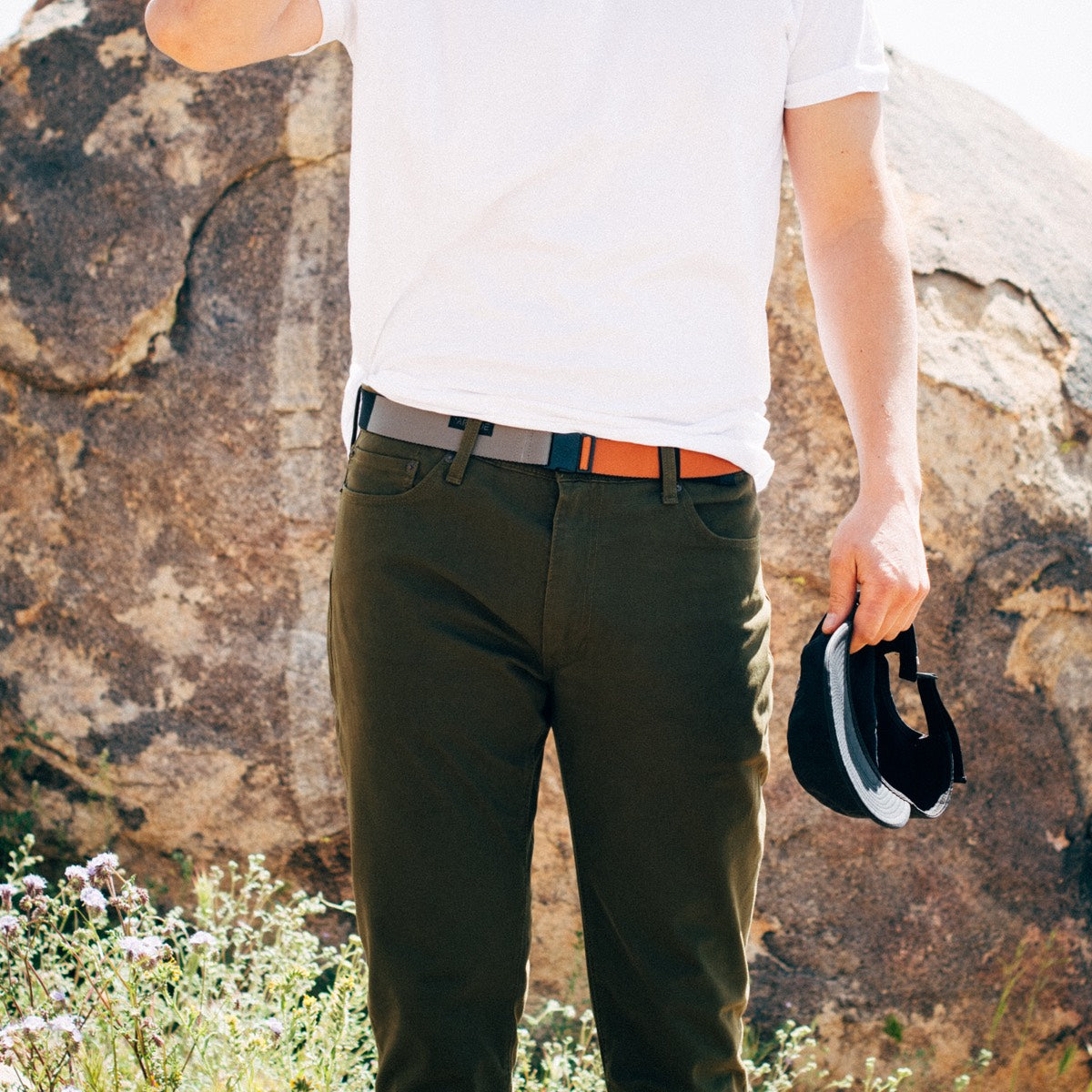 Arcade Ranger Slim Belt - Deep Copper/Colour Block image 1