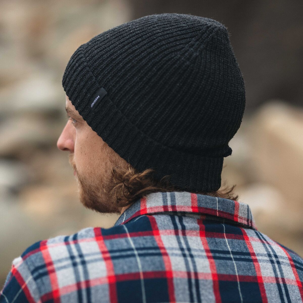 Compass Beanie - Charcoal image 5