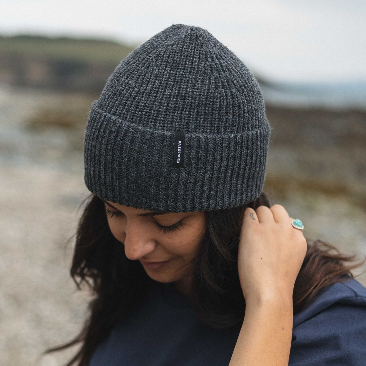 Compass Beanie - Charcoal image 8
