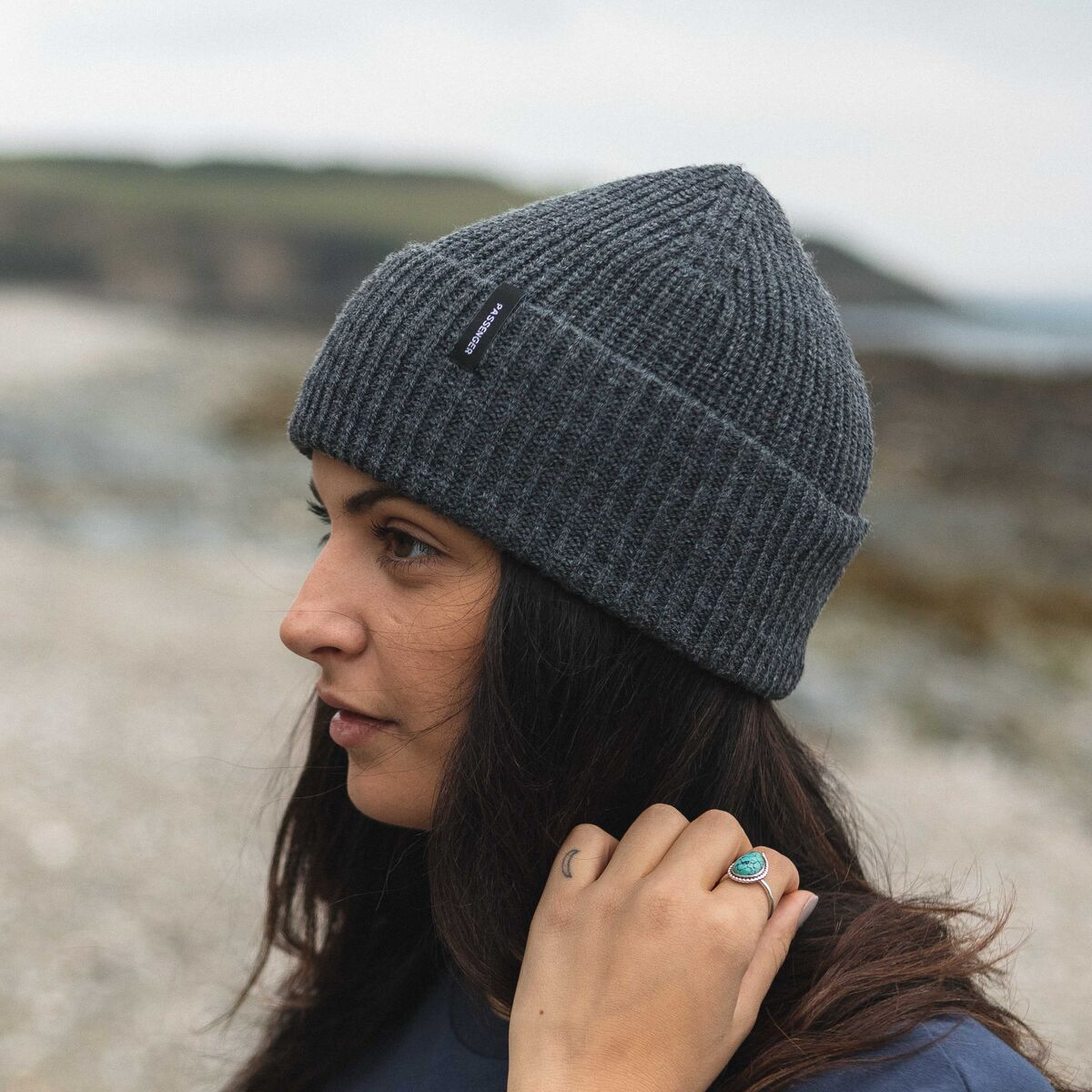 Compass Beanie - Charcoal image 9