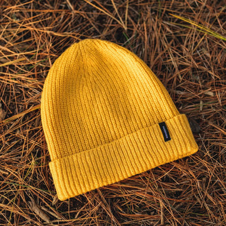 Compasses Beanie - Yellow