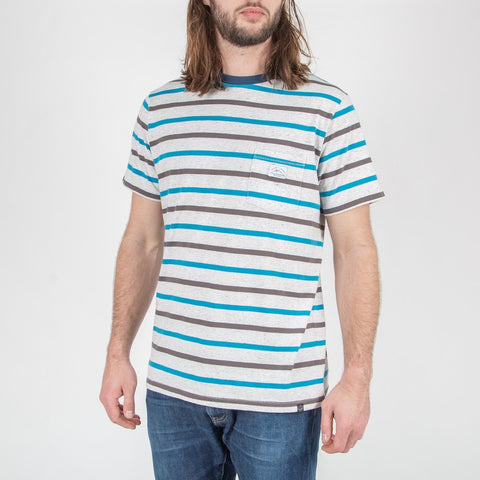 REVELSTOKE T-SHIRT - BLUE/GREY STRIPE