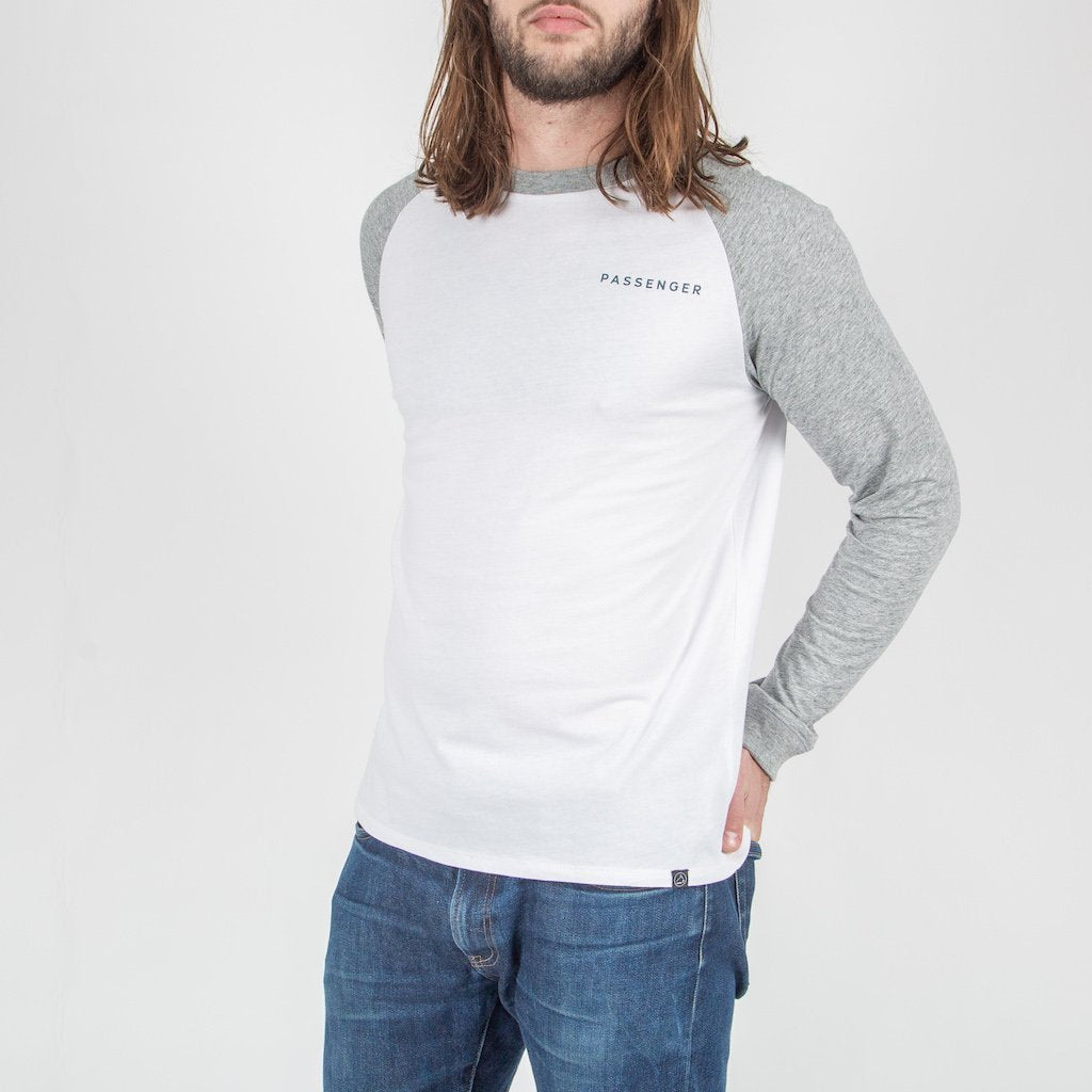 Time Slows L/S T-Shirt - White/ Mid Grey Marl image 5