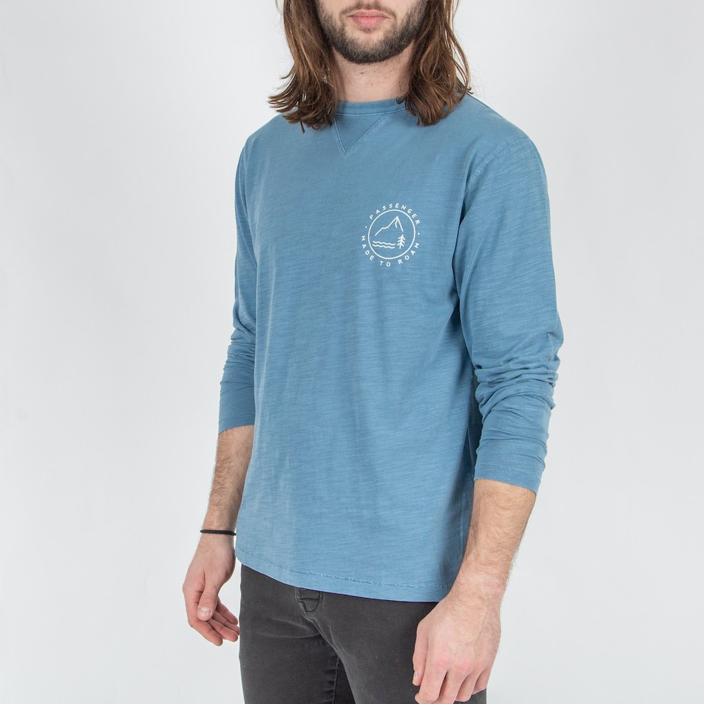 GLENDALE L/S T-SHIRT - DARK DENIM